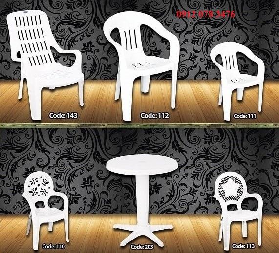 میز صندلی پلاستیکی صبا