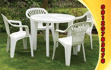 میز صندلی پلاستیکی ناصر