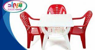 میز صندلی پلاستیکی مستطیل